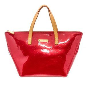 Louis Vuitton Red Vernis Leather Bellevue GM Bag